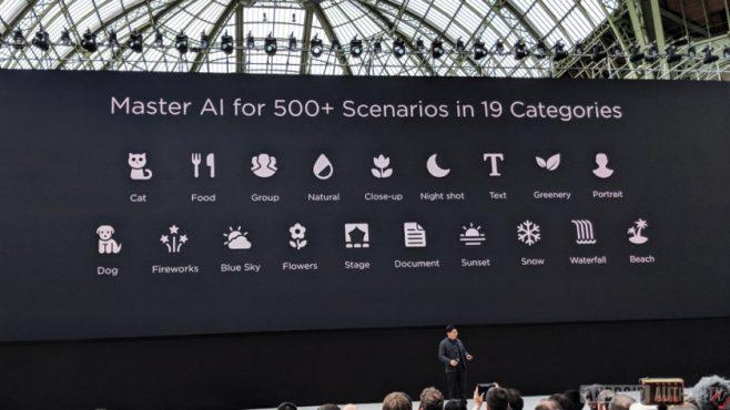 Huawei P20 riconoscimento scena intelligente