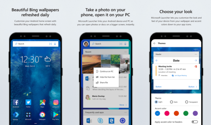 Microsoft Launcher 4.7 Beta app