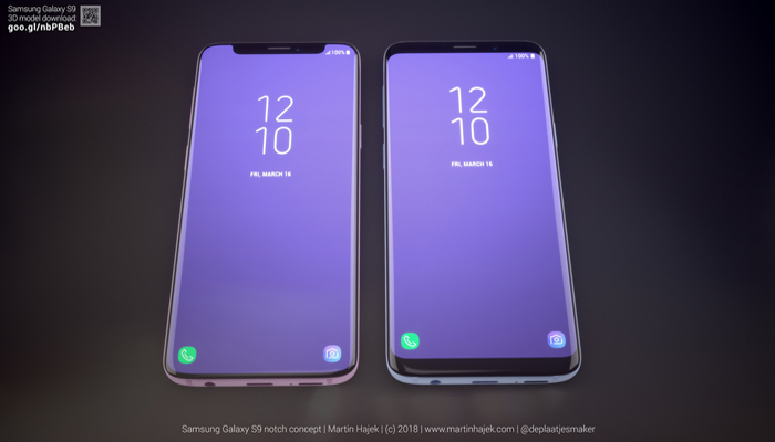 Samsung Galaxy S9 con il notch