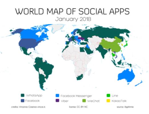 applicazioni più usate al mondo