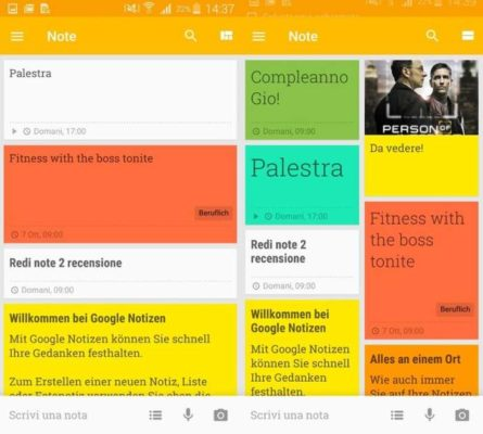 Google Keep note Android