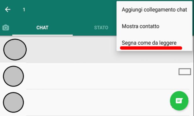 Messaggi non letti Whatsapp