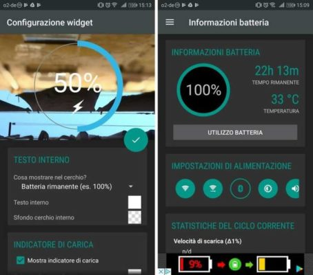 battery widget Android