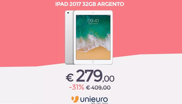iPad 2017 da Unieuro