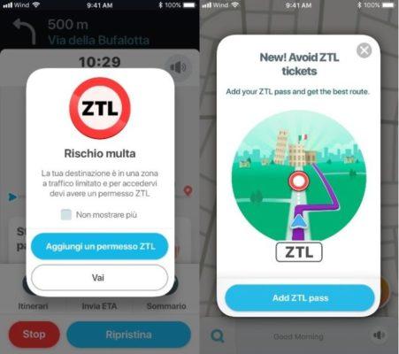 navigatore Waze ZTL