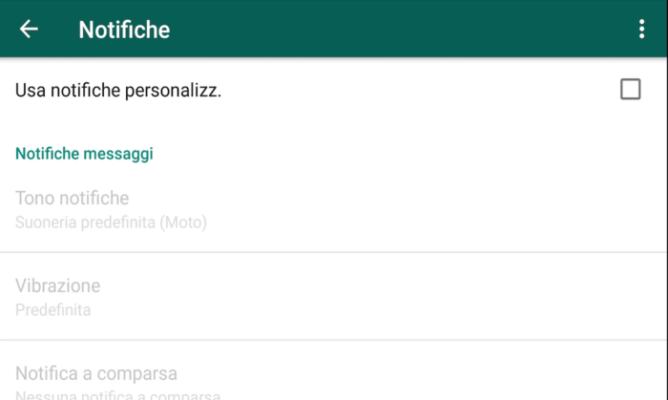 personalizzare notifiche Whatapp