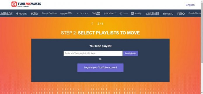 selezione playlist Youtube per Spotify