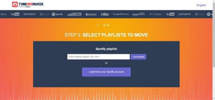 selezione playlist spotify per Youtube