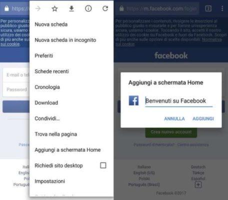 trucco Facebook applicazioni Android