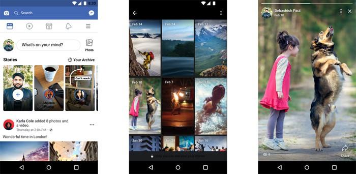 Facebook, arriva l'archivio per le storie