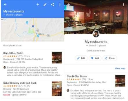 Google Maps 9.76 vs Google Maps 9.77 UI