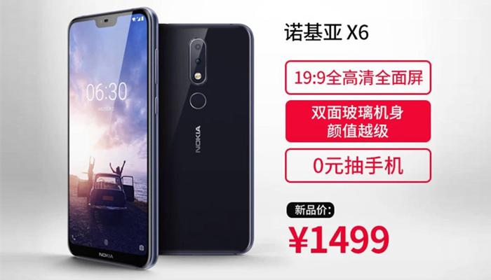 Nokia X6 ufficiale con notch e face unlock