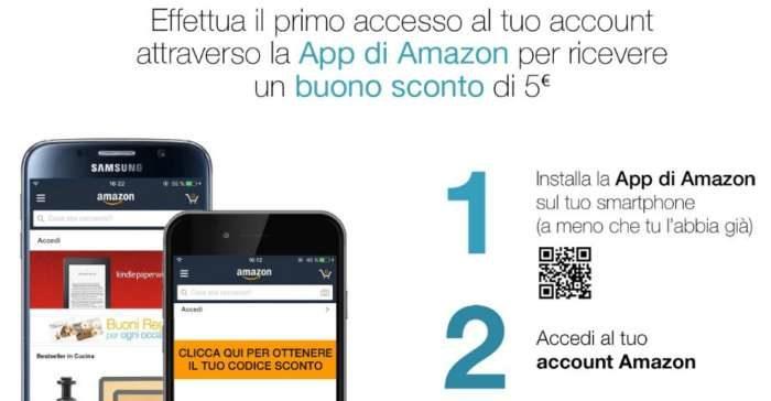 amazon 5 euro sconto app