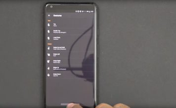 gesture android p