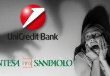 truffe conti correnti Sanpaolo, BNL e Unicredit