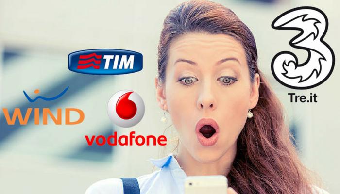 Tim, Wind, 3 Italia e Vodafone: truffe su abbonamenti e servizi non richiesti