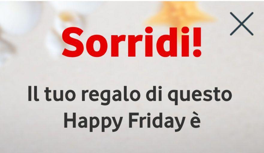 Vodafone Happy Friday: svelati i regali di Oggi Venerdì 22 Febbraio