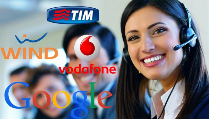 google telefono stop ai call center di vodafone tim wind 3 italia. Black Bedroom Furniture Sets. Home Design Ideas