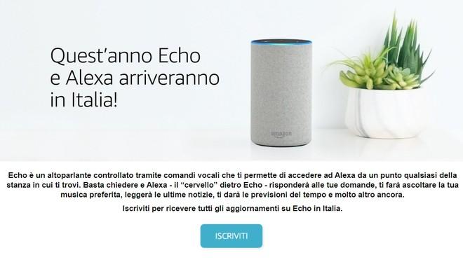 Amazon echo e alexa in italia aperta ufficialmente la for Amazon sito ufficiale