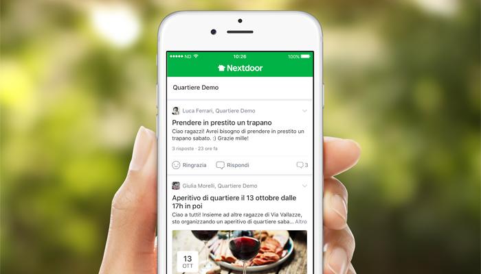 Nextdoor la prima e pi utilizzata app per i vicini di for Domande per i costruttori di case