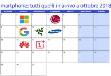 Smartphone, tutti gli eventi imperdibili che si terranno a ottobre 2018