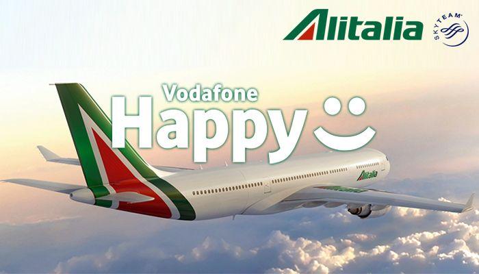 Vodafone Happy regala Alitalia