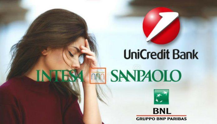 truffe Unicredit BNL SanPaolo pagamenti contactless