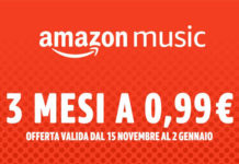 Amazon Music Unlimited a 0.99 euro