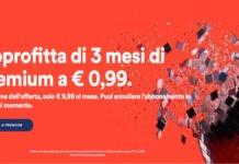 Spotify premium, 3 mesi a 0.99 euro