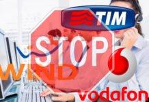 Come bloccare call center TIM Wind 3 Vodafone