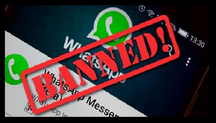 Whatsapp ban account