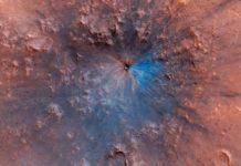 marte scoperto nuovo cratere