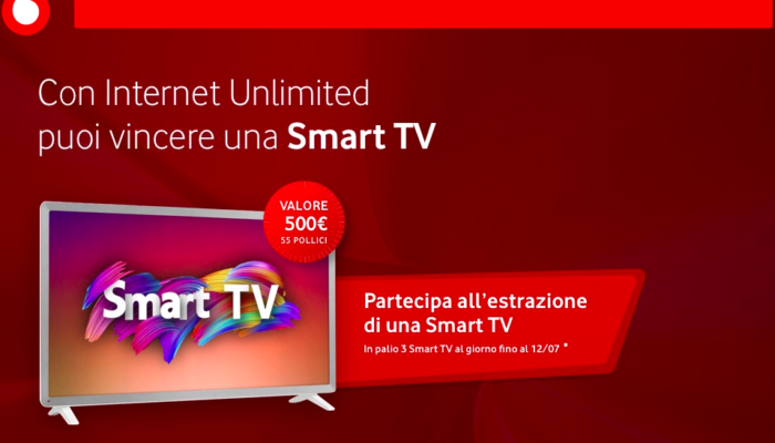 vodafone internet unlimited 3 smart TV con vodafone ready