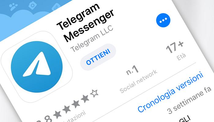 aggiornamento Telegram settembre