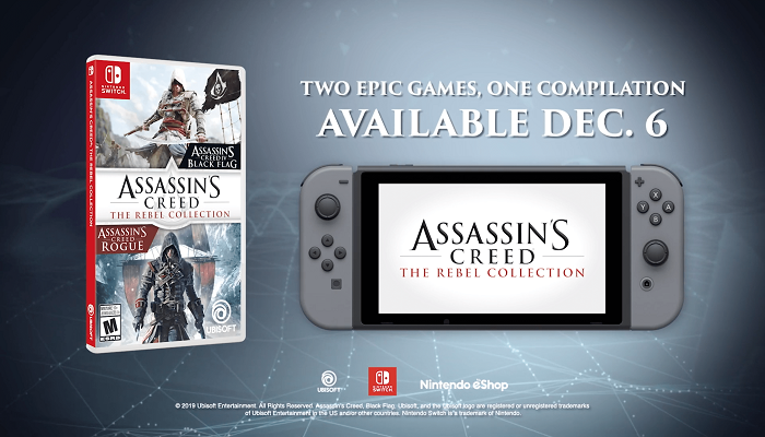 nintendo switch Assassin's Creed rebel collection