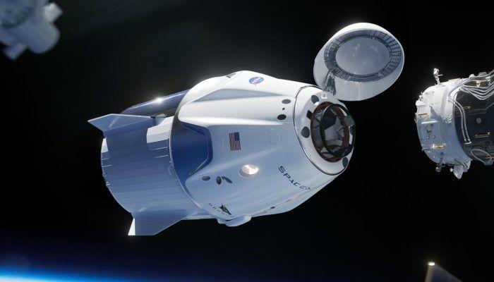 spaceX crew dragon simulatore di attracco