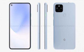 Google Pixel 5 XL CAD render