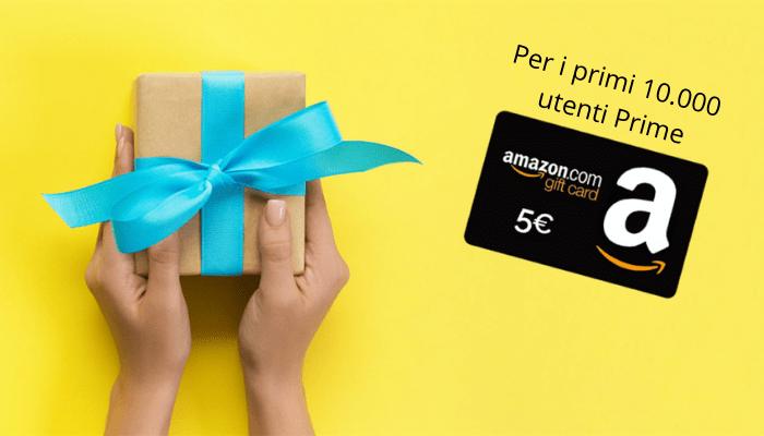 Amazon: buono sconto di 5 Euro per i primi 10.000 utenti Prime