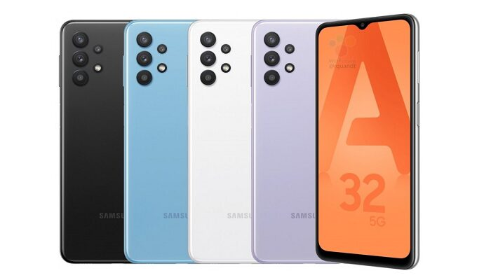 Samsung Galaxy A32 5G renders stampa