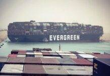 Ever Given, Evergreen, Canale di Suez, Egitto,