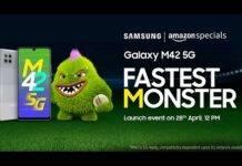 Samsung Galaxy M42 5G debutto specs Amazon India